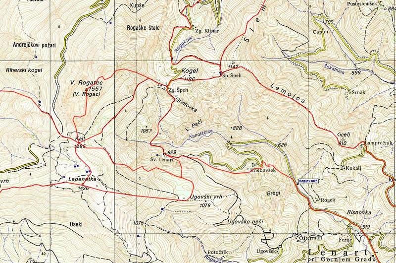 Mapa Lepenatka