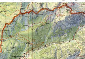 Bovec-Trenta_zemljevid Mangart