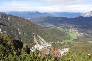 Pogled proti Kranjski Gori z Vitranca